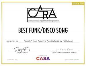 Fool Moon - 2019 CARA Funk, Disco